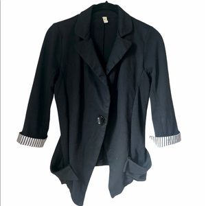 Anthropologie M+P+E One-Button Contemporary Blazer
